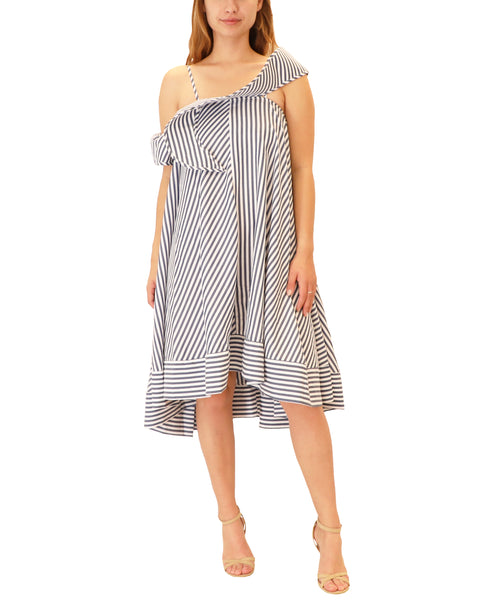 Stripe Swing Dress w/ Ruffle Detail