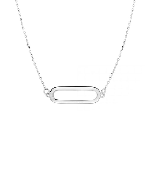 Zoom view for Sterling Silver Oval Necklace