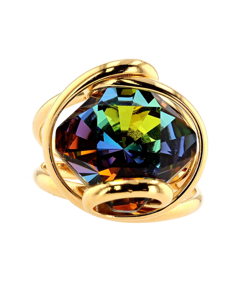 Swarovski Crystal Adjustable Ring