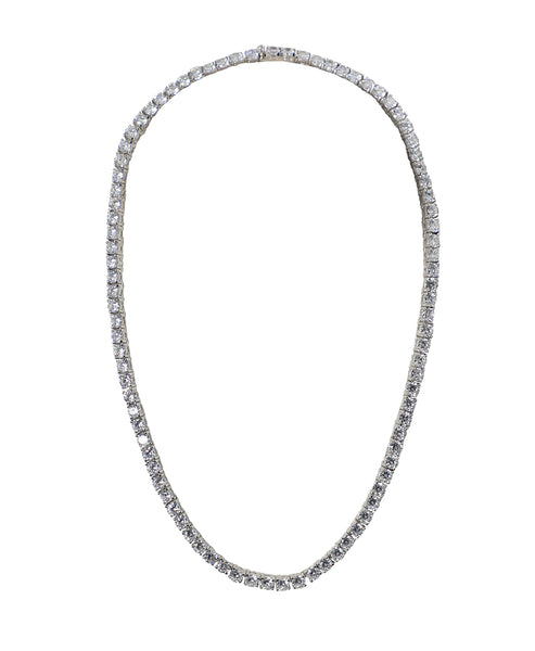 Tennis Necklace- 4 mm CZ's - Fox's