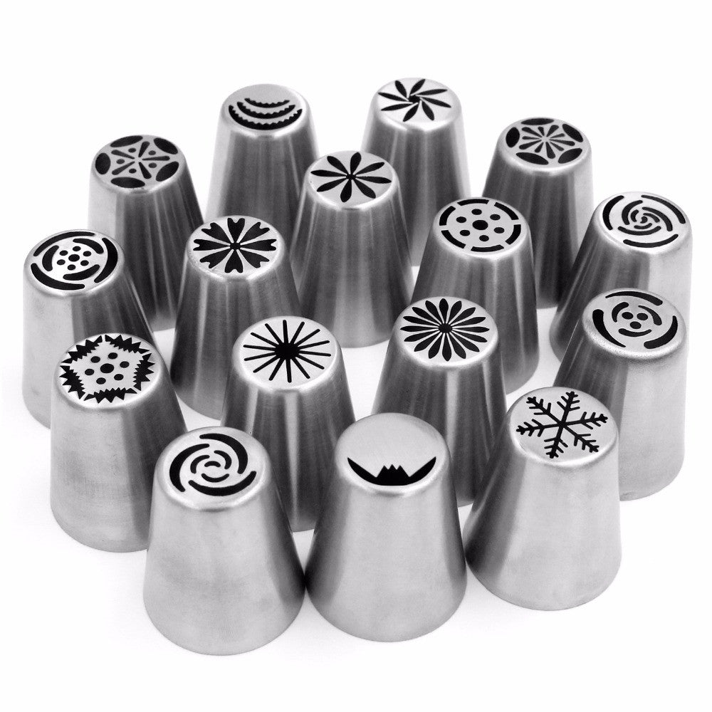 46 Pcs Stainless Steel Cake Nozzle Tools
