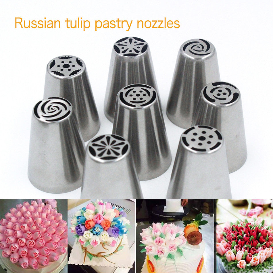 30 PCS Stainless Steel Cake Decorating Nozzle Tools - Gina and Marc Kitchen