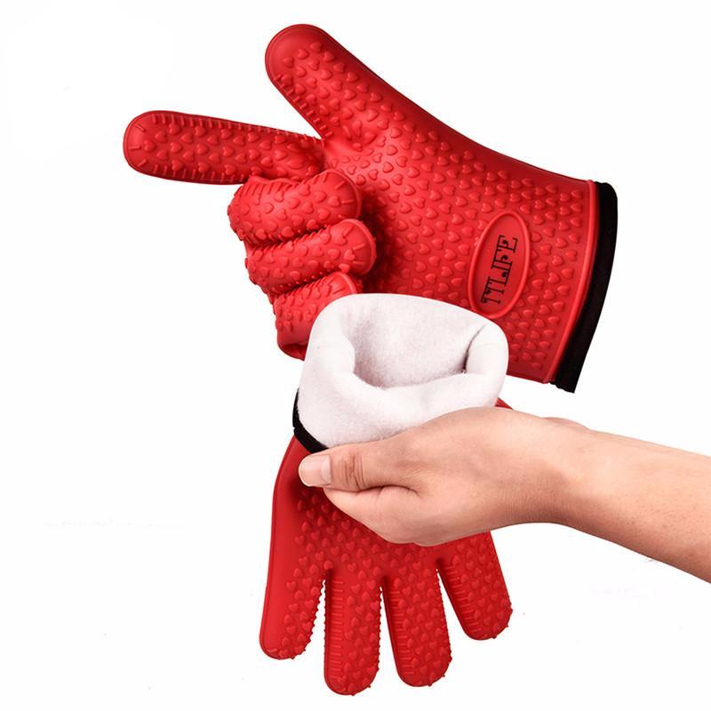 TTLIFE 1 Pair Heat Resistant Silicone Glove