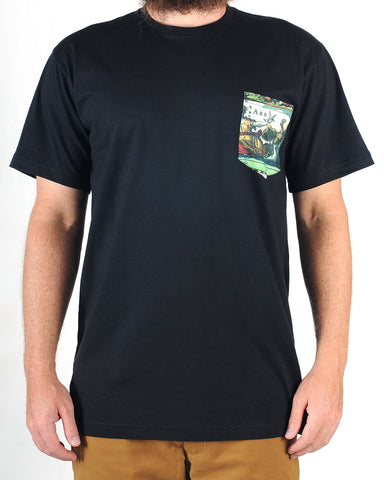 Grand Flavour - World Pocket Tee - Black
