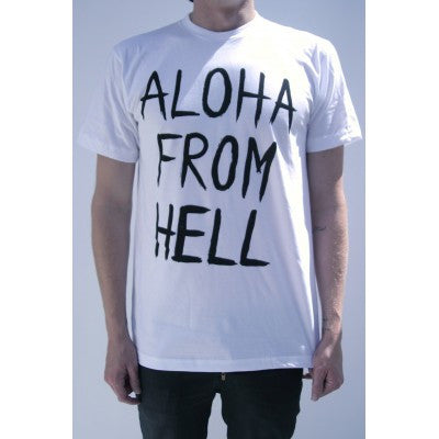 Plastic People - Aloha From Hell Tee - White