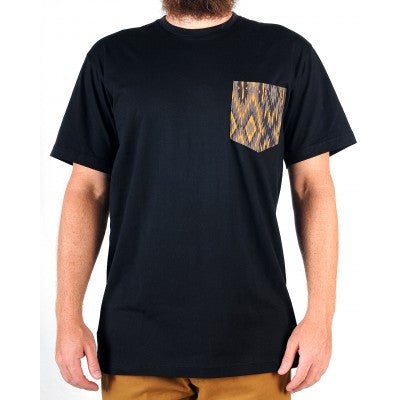 Grand Flavour - Aztec Pocket Tee - Black