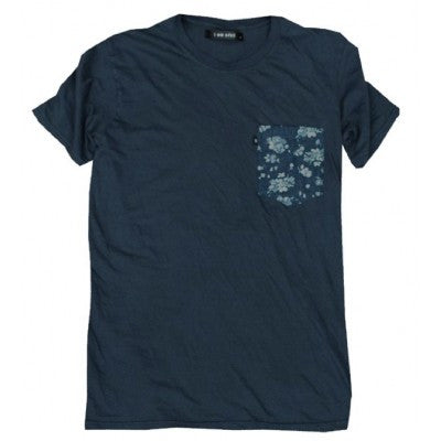 I Am None - Floral Pocket Tee