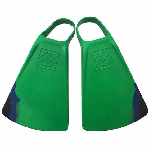 Hubboards Dubb Zero fins jungle green