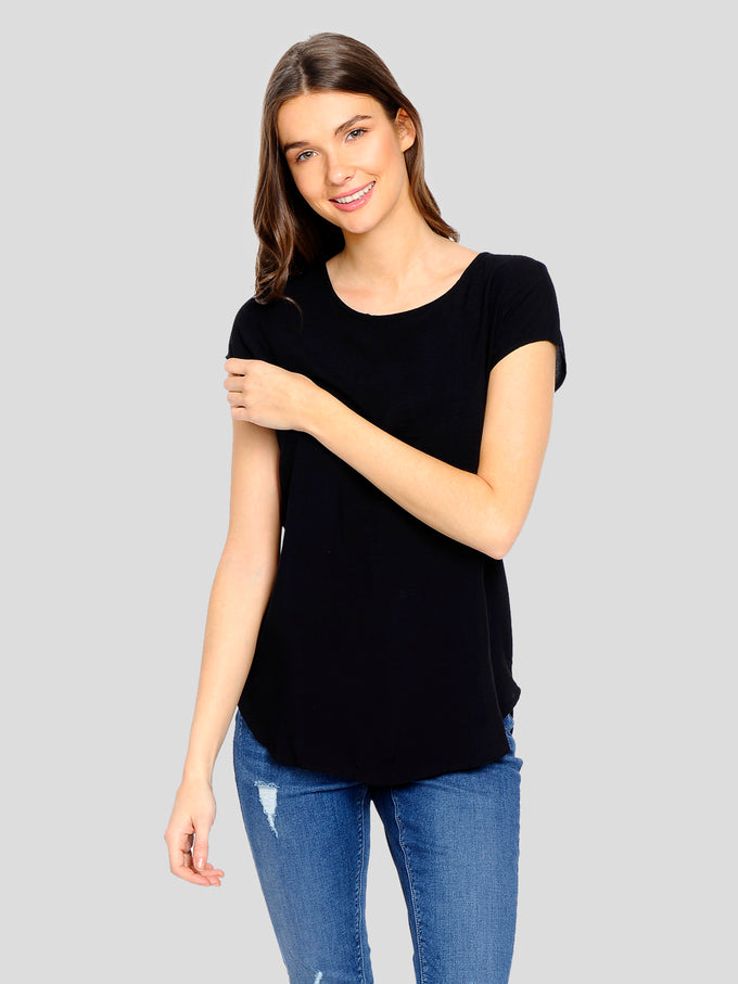 Boca Short Sleeve Blouse BLACK