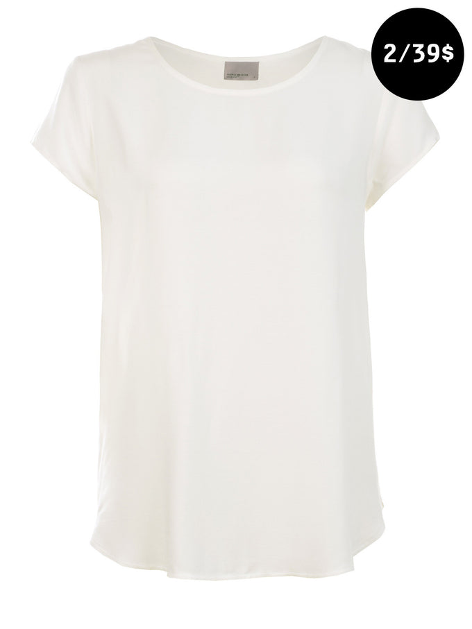Boca Short Sleeve Blouse SNOW WHITE