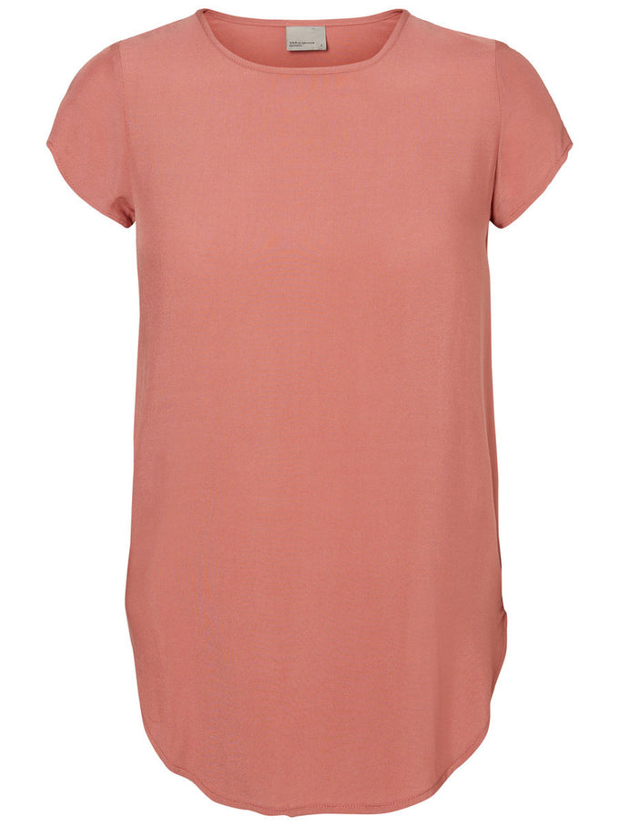 Boca Short Sleeve Blouse WITHERED ROSE
