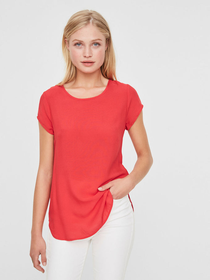 VMBOCA SHORT SLEEVE BLOUSE TOREADOR