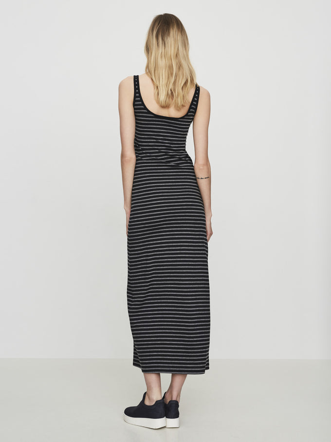 VMNANA MAXI DRESS BLACK IRIS