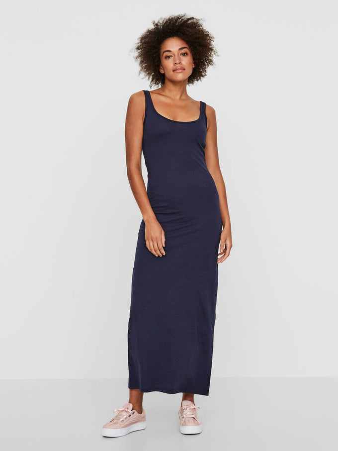 VMNANNA MAXI DRESS BLACK IRIS NIGHT
