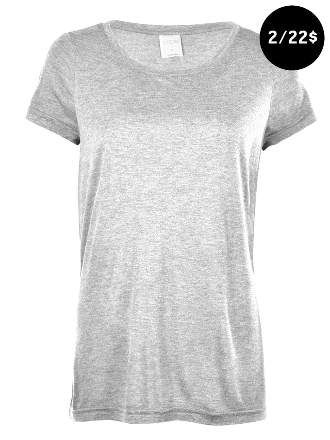 VMJOY T-SHIRT Light Grey Melange