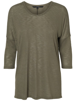 T-SHIRT WITH DOLMAN SLEEVES