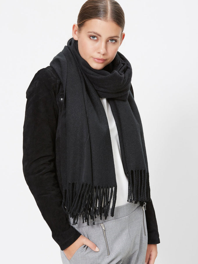 CLASSIC SOLID SCARF BLACK