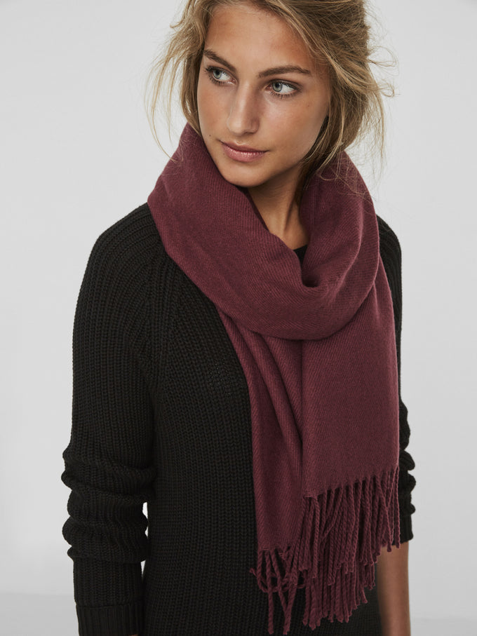 CLASSIC SOLID SCARF ZINFANDEL