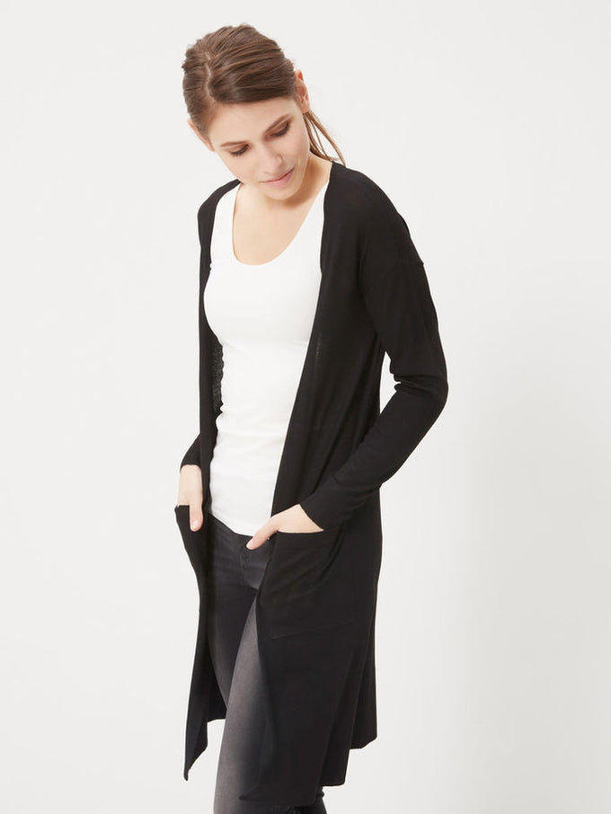 NMBECCA LONG CARDIGAN BLACK
