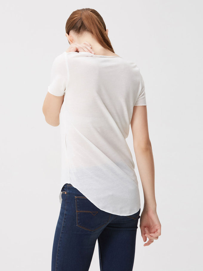 VMLUA LINEN BLEND T-SHIRT Snow White