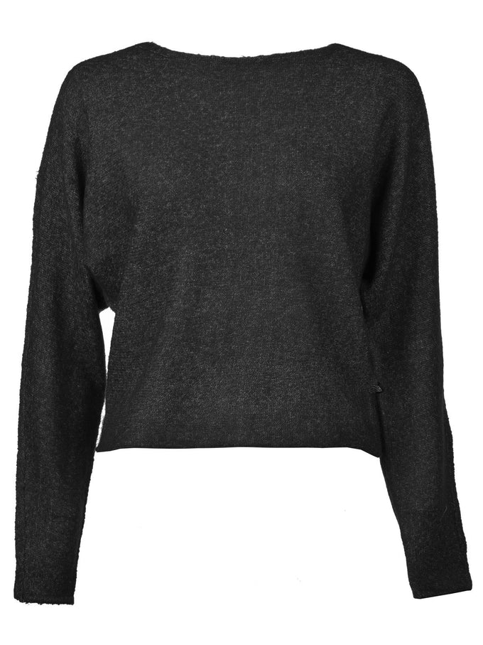 NMMILES SHORT SWEATER BLACK