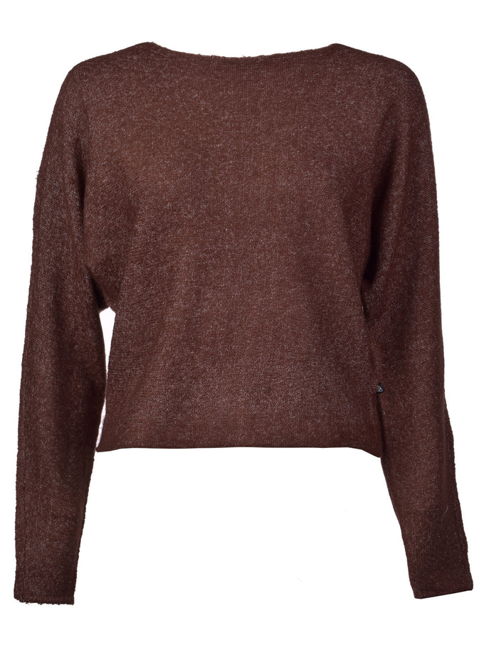 NMMILES SHORT SWEATER DECADENT CHOCOLATE