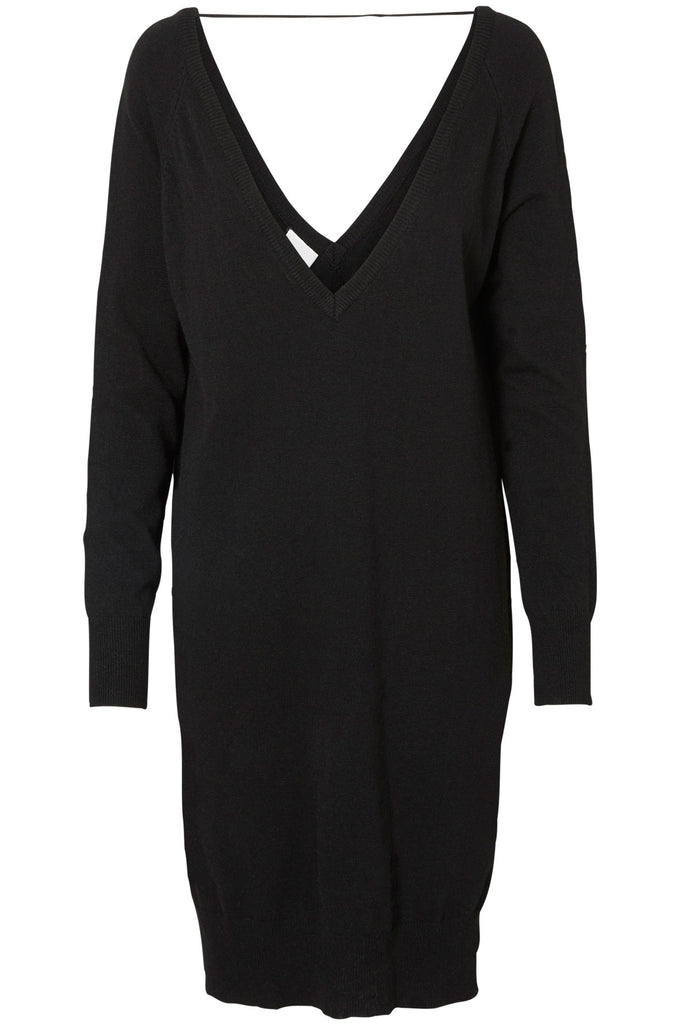 NMMENA KNIT DRESS Black