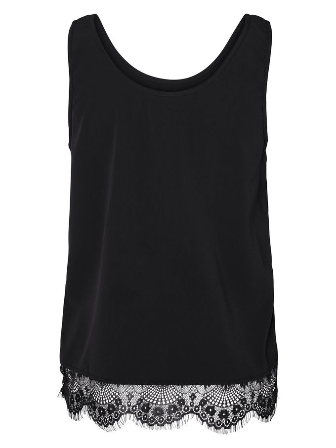 NMMENA SLEEVELESS TOP BLACK