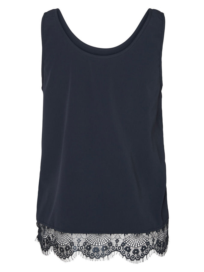 NMMENA SLEEVELESS TOP BLACK IRIS
