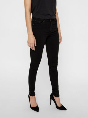 Jeans Lux coupe skinny à taille mi-haute