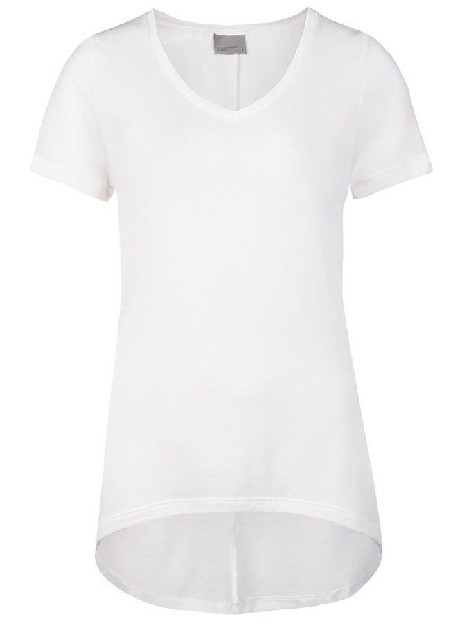 F-VMLONDON HIGH-LOW T-SHIRT SNOW WHITE