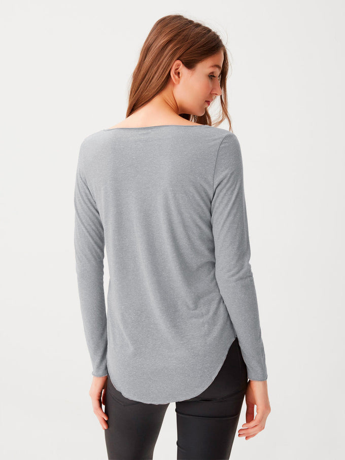 Long Sleeve T-Shirt LIGHT GREY MELANGE
