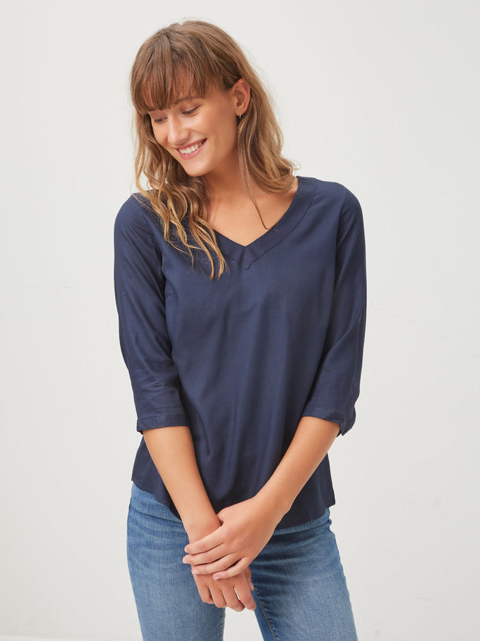 VMBRIT TOP DARK BLUE