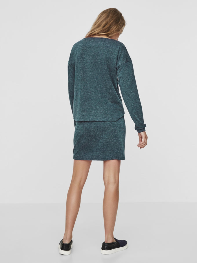 SOFT SWEATER-DRESS GIBRALTAR SEA