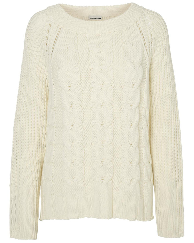 NMBAT SWEATER WHITE ASPARAGUS