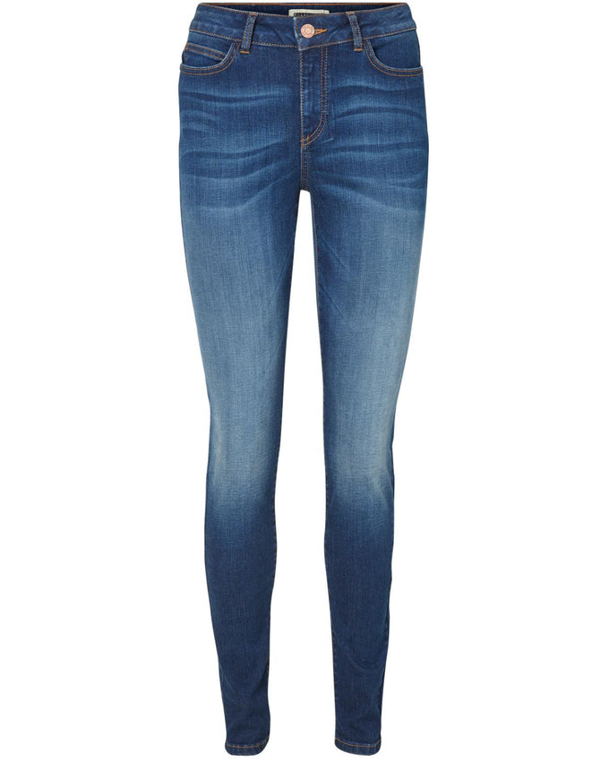 JEANS NMLUCY POWER SHAPE BLEU DENIM FONCÉ