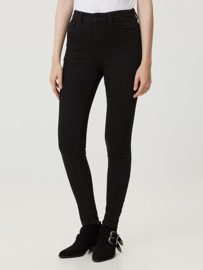 NMLEXI HIGH WAIST JEANS BLACK