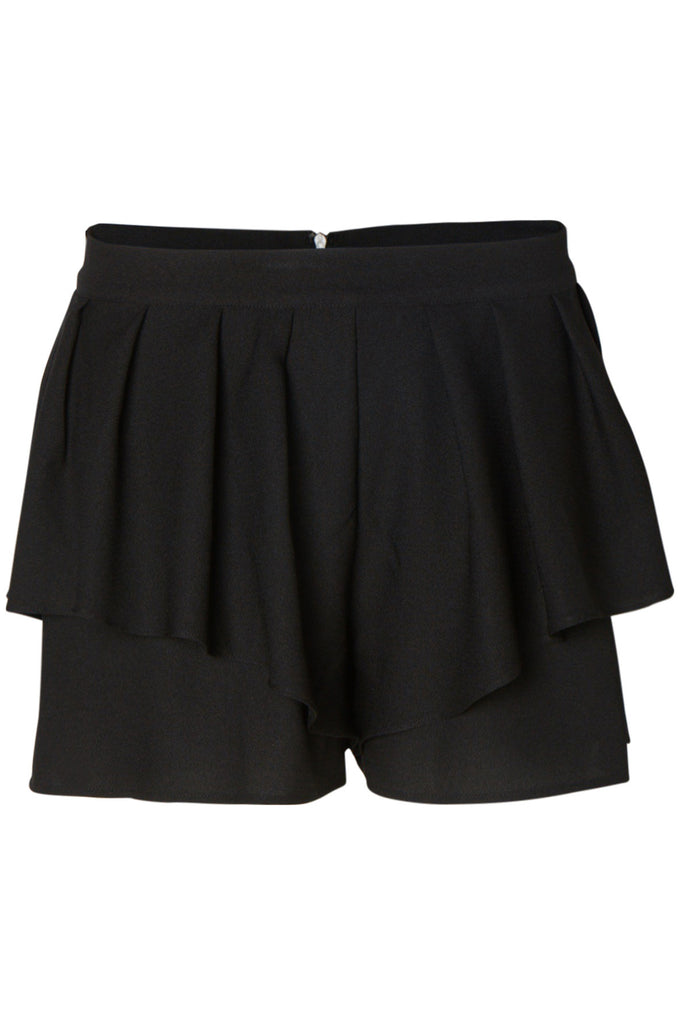 VMINANA RUFFLED SHORTS BLACK
