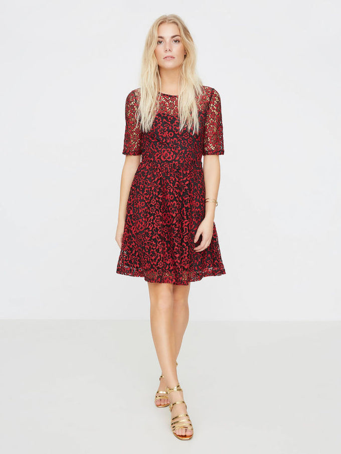F-VMCARRIE LACE DRESS BLACK