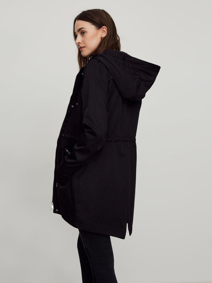 FISHTAIL LIGHT PARKA BLACK