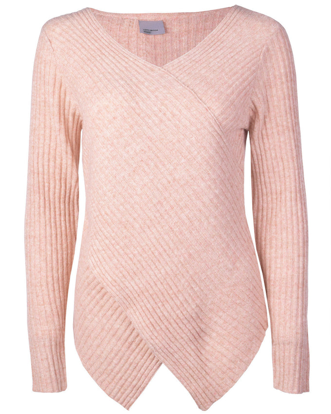 VMNANNY WRAP TOP DUSTY ROSE