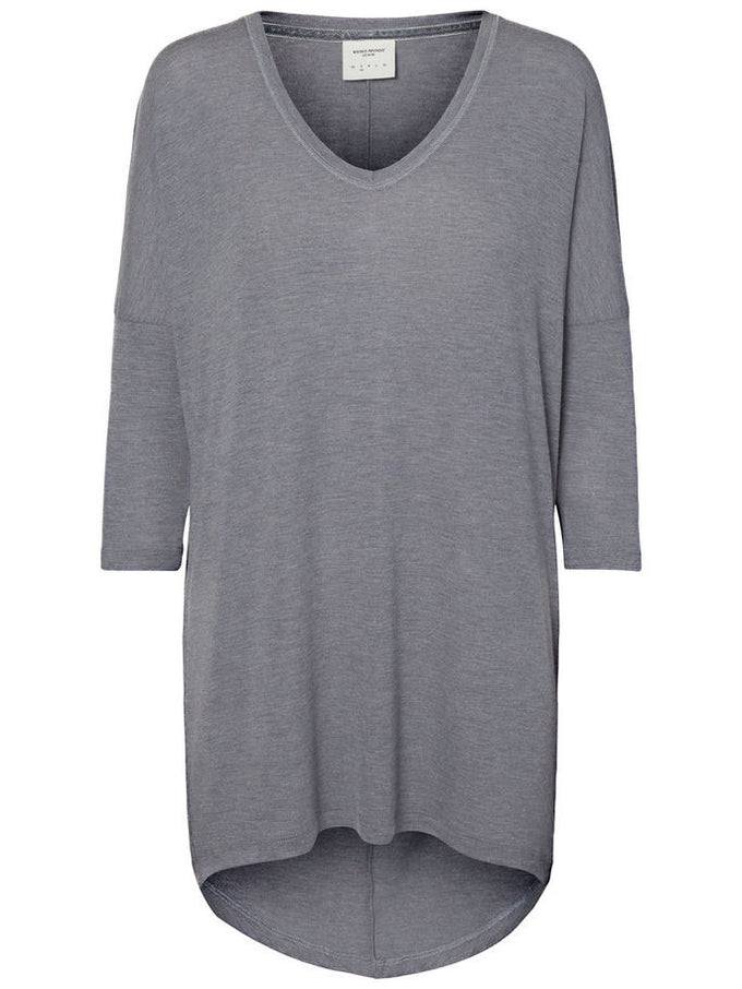 VMHONIE 3/4 T-SHIRT LIGHT GREY MELANGE