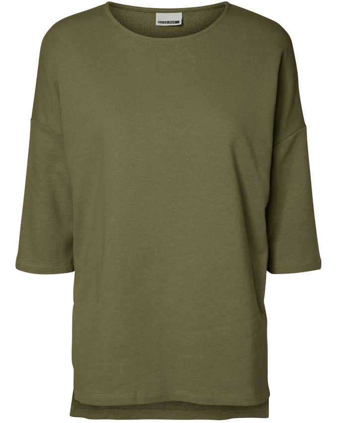 NMALBERT 3/4 LOOSE SWEATSHIRT IVY GREEN