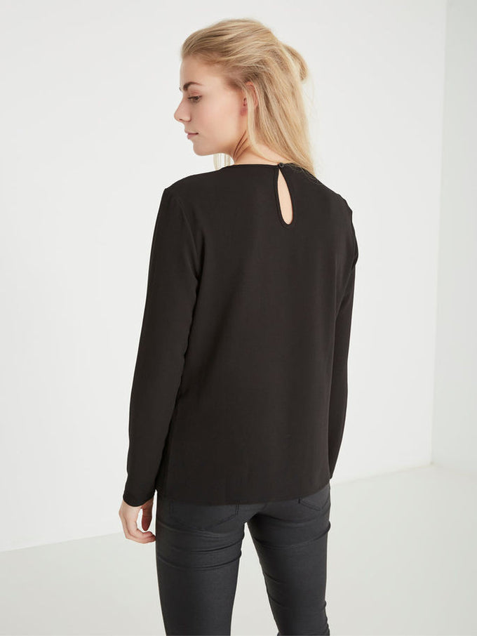VMKELLY LACE BLOUSE BLACK