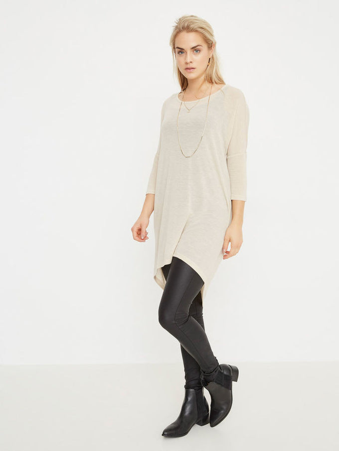 VMHONIE LOOSE TOP OATMEAL