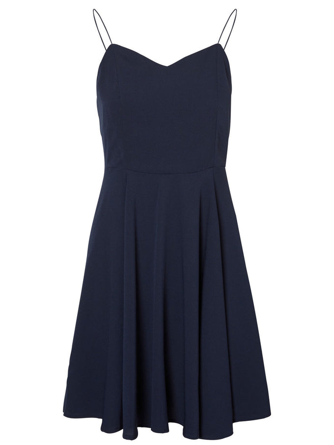 SHORT CAMI DRESS NAVY BLAZER