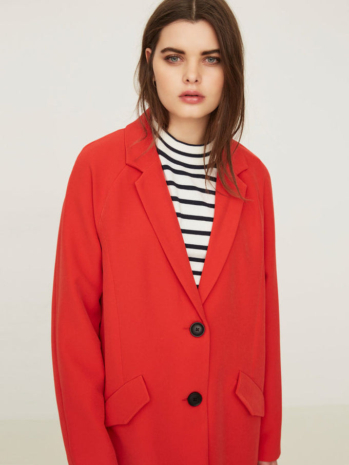 VMSOLO 3/4 COAT Poppy red