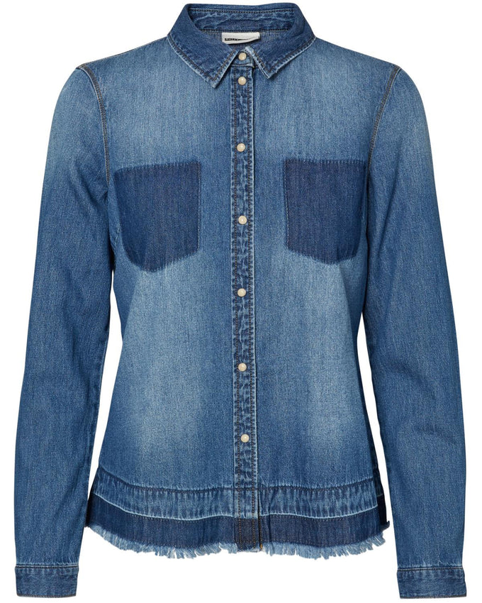 NMCATHY DENIM SHIRT BLUE DENIM