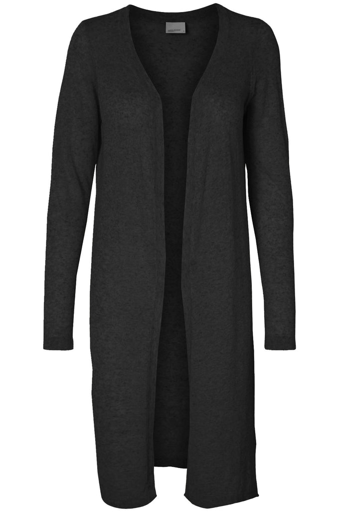 VMALTA LONG CARDIGAN DARK GREY MELANGE