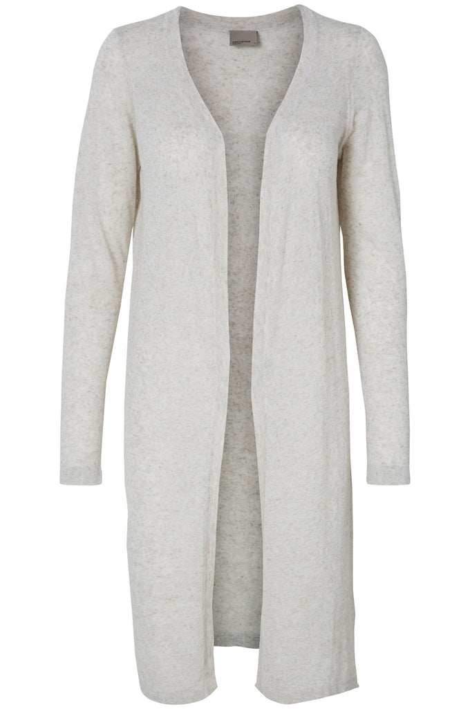 VMALTA LONG CARDIGAN LIGHT GRAY MELANGE